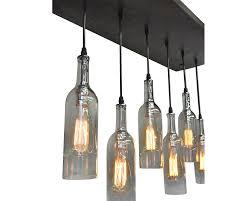 lights made out of wine bottles proven diy wine bottle chandelier pottery barn light www kylebalda
