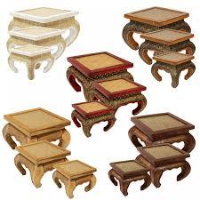 Schlafzimmer Antik Massiv Opiumtisch Tisch Beistelltisch Massiv Holz Couchtisch Nachttisch