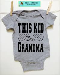baby clothes this kid loves grandma baby announcement idea