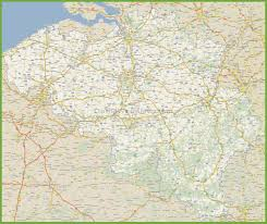 map of begium large detailed road map of belgium