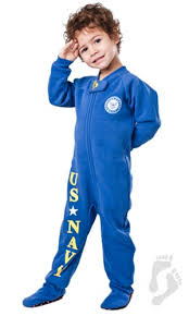 u s navy footed pjs toddler u s navy footed pajamas one