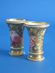 Spode Vases Pair Spode Porcelain Spill Vases C 1815 To 1820 England From