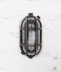 davey bulkhead oval brass guarded external lighting