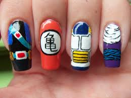 dragon ball z nail art beautify themselves with sweet nails