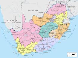 Map Of South South Africa Political Map Political Map Of South Africa South