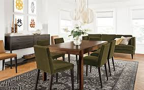 Extension Tables Dining Room Furniture Walsh Extension Table In Walnut With Ava Chairs Modern Dining