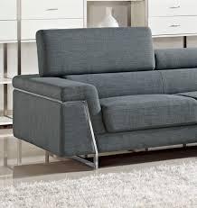 Modern Grey Sectional Sofa Divani Casa Darby Modern Fabric Sectional Sofa Set