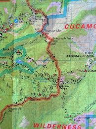 San Gabriel Map Peak Bagging 23 San Gabriel Peaks Above 8 000 Ft To Conquer