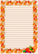 thanksgiving themed lined paper and page borders by jinkydabon