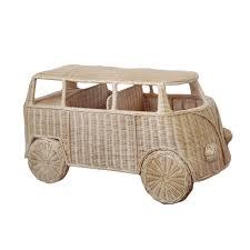 Fauteuil Enfant Osier by Mini Van Combi Volkswagen En Rotin Deco Enfant 120 X 60 Cm