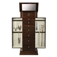 chestnut jewelry armoire jcpenney