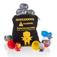 party bag fillers dc friends bouncy ball heads pack of ten