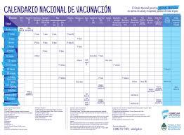 calendario nacional de vacunación 2017