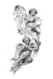 angels tattoo design by ca5per beautiful for passing of