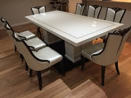 bianca marble dining table with 8 chairs marble king