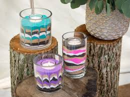 sand art for grown ups how to make sand art candles hgtv u0027s