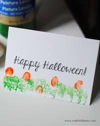 free printable halloween fingerprint pumpkin patch cards