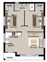 Floor Plan Bed 2 Bed Study Nook Bath House Plan 2 Bedroom House Plans