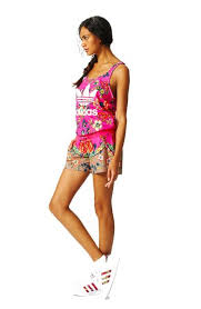 adidas one jumpsuit adidas originals womens pink floral jumpsuit threadz and treadz
