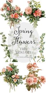 printable spring flowers spring flowers on silver platters free printables so much