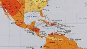 map central mexico solar insolation map caribbean mexico central america alte