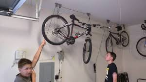 Bicycle Ceiling Hoist by How To Use Racor Pbh 1r Ceiling Mounted Bike Lift Youtube