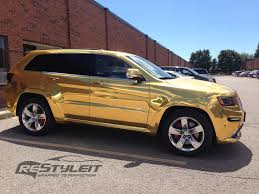 cherokee jeep 2016 black 2014 jeep grand cherokee srt8 wrapped in gold chrome photo
