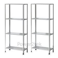 4 Tier Shelving Unit by 2x Ikea Hyllis 4 Tier Shelving Unit Galvanised Steel Storage Unit