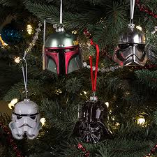 hallmark wars boba fett helmet blown glass ornament thinkgeek