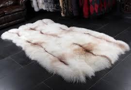 sun glo fox fur rug saga furs foxes lars paustian furs