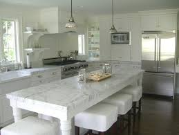 carrara marble kitchen island whereas marble is a soft is there a concern with