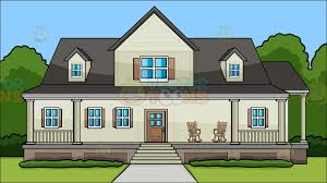 house with porch a house with big front porch background clipart vector