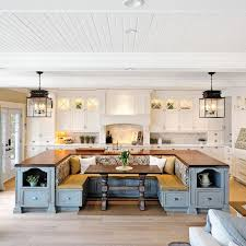 white kitchen island with seating kitchen island with built in seating