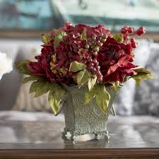 silk flower centerpieces astoria grand peony and hydrangea silk flower arrangement in