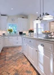 Brick Floor Kitchen by 10 White Kitchens My Readers Cook In Brick Flooring Wood