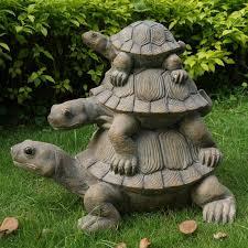 hi line gift ltd 3 stacking turtle family statue reviews wayfair