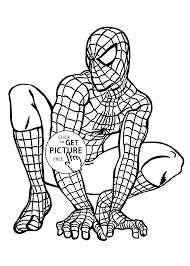 spider man coloring pages for kids printable free coloing 4kids com