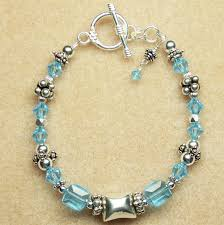 bead bracelet crystal images Blue crystal bracelet beaded bracelet swarovski crystal jewelry jpg