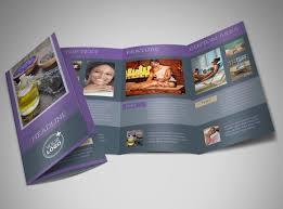 spa brochure template beauty spa brochure template word
