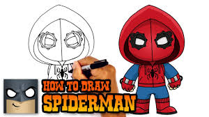 draw spiderman homecoming drawing tutorial