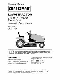 craftsman 24 hp 48 inch mower manual tractor clutch