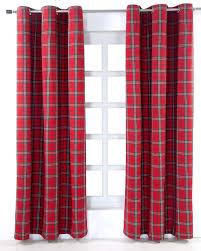 Eyelet Curtains Edward Tartan Check Ready Made Eyelet Curtain Pair Homescapes