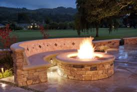 outdoor in ground fire pit design in ground fire pit