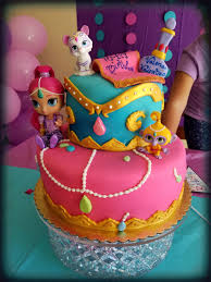 Halloween Themed Birthday Cakes Shimmer And Shine Cake Jayxor Cakes Pinterest Cake