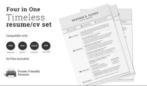 10 chronological resume template word psd and eps format