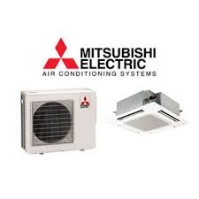 ductless mini split cassette mitsubishi 15 000 15 600 btu heat pump w ceiling recessed indoor