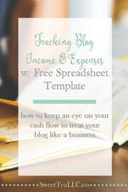 I Need A Spreadsheet Template Tracking Blog Income U0026 Expenses With Free Spreadsheet Template