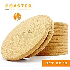 cork coasters absorbent cork coasters circle set of 12 best