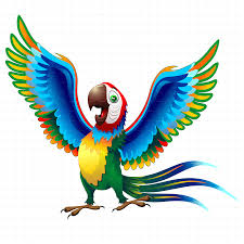 Cool Brazil Flag Macaw Cartoon With Brazil Flag Colors By Bluedarkat Graphicriver
