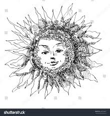 sun sketch ink pen sun fantastic stock vector 286574687 shutterstock
